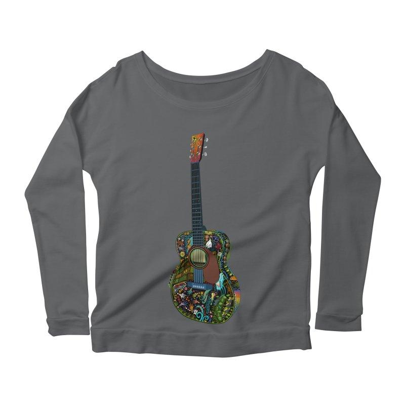Eric's Martin Guitar Full Colour! Women's Scoop Neck Longsleeve T-Shirt by BullShirtCo