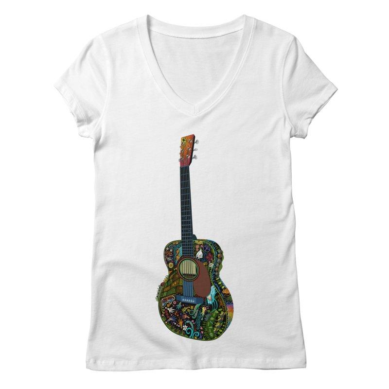 Eric's Martin Guitar Full Colour! Women's Regular V-Neck by BullShirtCo