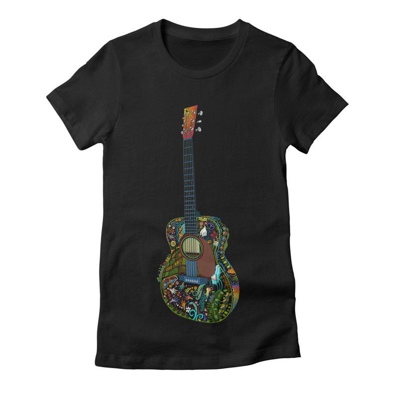 Eric's Martin Guitar Full Colour! Women's Fitted T-Shirt by BullShirtCo