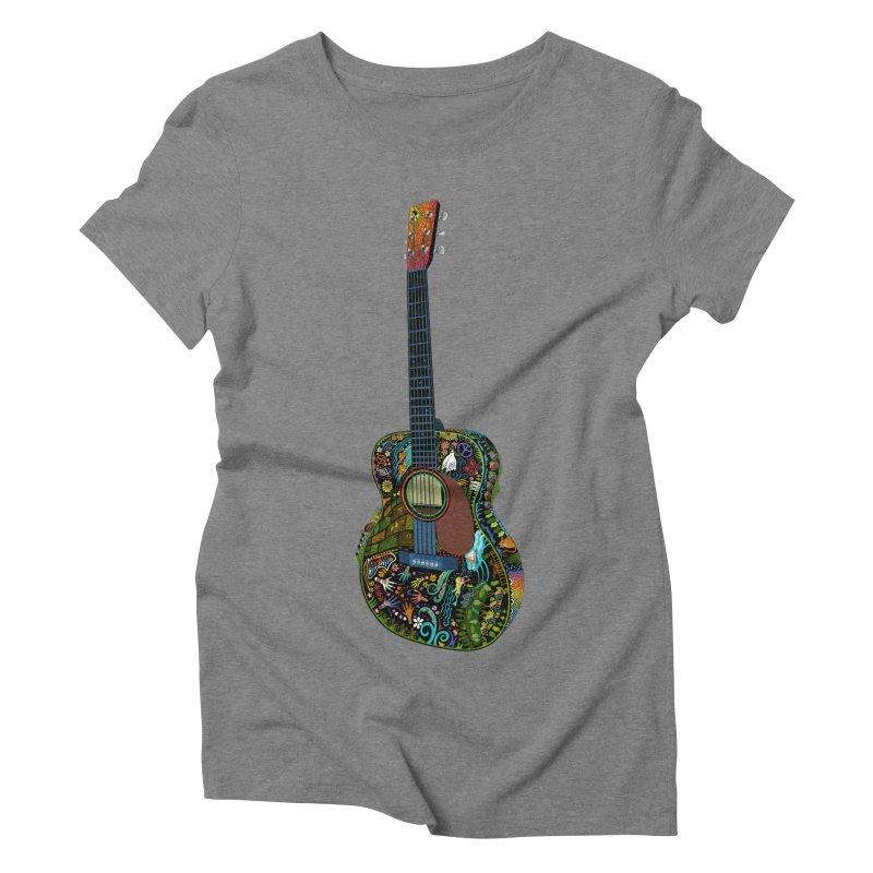 Eric's Martin Guitar Full Colour! Women's Triblend T-Shirt by BullShirtCo