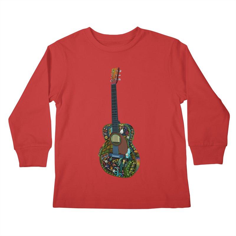 Eric's Martin Guitar Full Colour! Kids Longsleeve T-Shirt by BullShirtCo