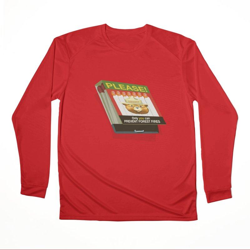 Smokey the Bear's Matches Women's Performance Unisex Longsleeve T-Shirt by BullShirtCo