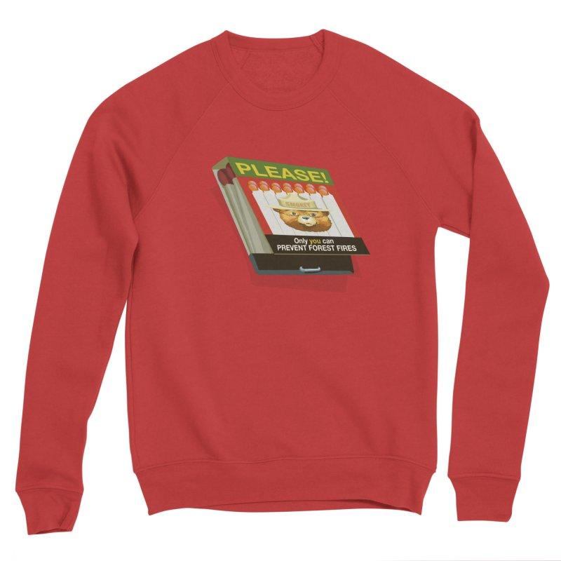 Smokey the Bear's Matches Women's Sponge Fleece Sweatshirt by BullShirtCo