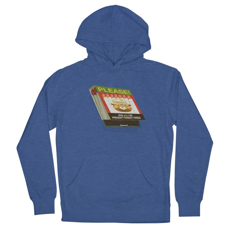 Smokey the Bear's Matches Men's French Terry Pullover Hoody by BullShirtCo