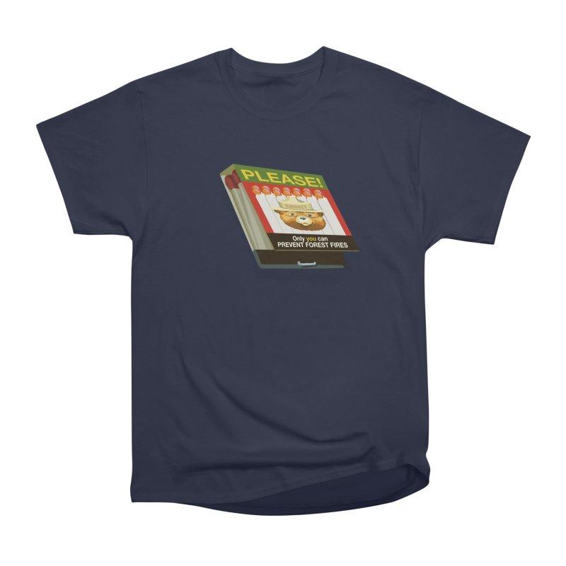 Smokey the Bear's Matches Men's Heavyweight T-Shirt by BullShirtCo