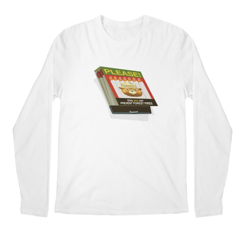 Smokey the Bear's Matches Men's Regular Longsleeve T-Shirt by BullShirtCo