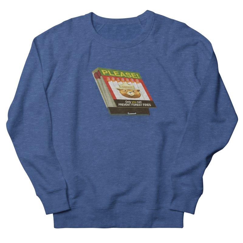 Smokey the Bear's Matches Women's French Terry Sweatshirt by BullShirtCo