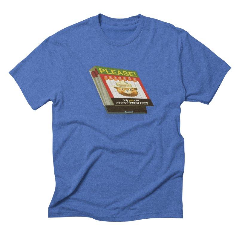 Smokey the Bear's Matches Men's Triblend T-Shirt by BullShirtCo