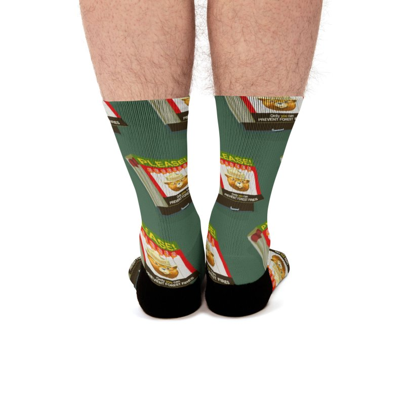 Smokey the Bears Matches Men's Socks by BullShirtCo