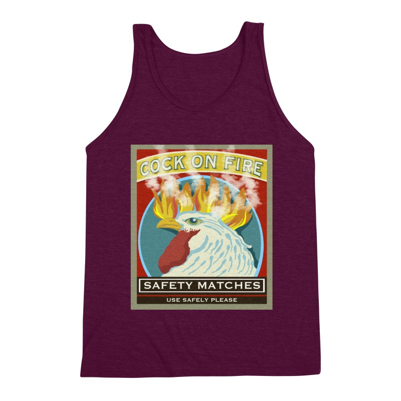 Cock on Fire Matches Men's Triblend Tank by BullShirtCo