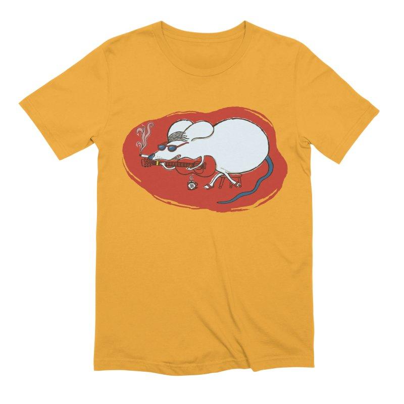 Retro New Year Rat Men's Extra Soft T-Shirt by BullShirtCo