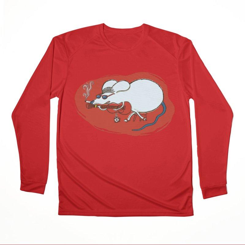 Retro New Year Rat Women's Performance Unisex Longsleeve T-Shirt by BullShirtCo