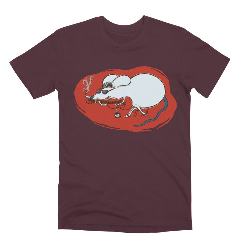 Retro New Year Rat Men's Premium T-Shirt by BullShirtCo