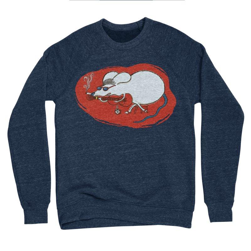 Retro New Year Rat Men's Sponge Fleece Sweatshirt by BullShirtCo