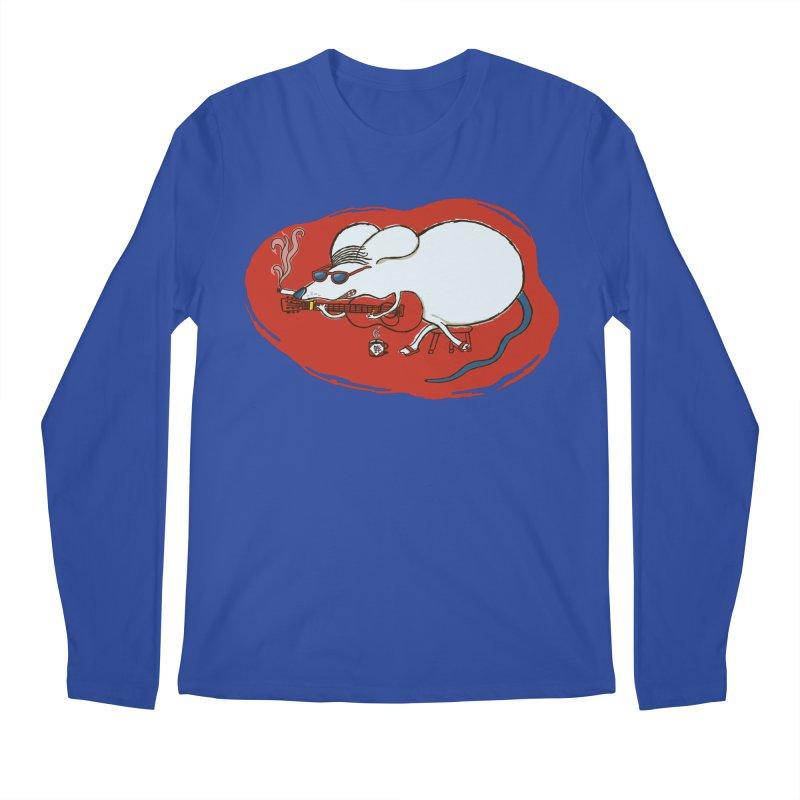 Retro New Year Rat Men's Regular Longsleeve T-Shirt by BullShirtCo