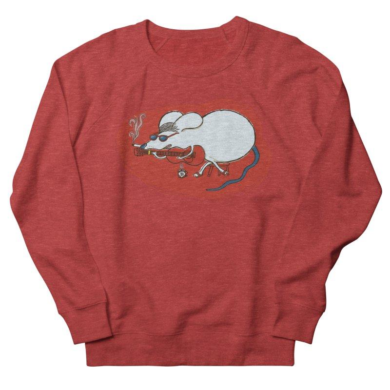Retro New Year Rat Women's French Terry Sweatshirt by BullShirtCo