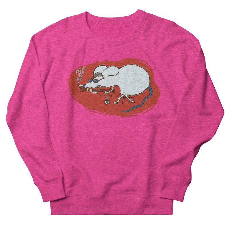Retro New Year Rat Men's French Terry Sweatshirt by BullShirtCo