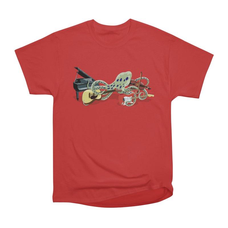 ROCKtopus Men's Heavyweight T-Shirt by BullShirtCo