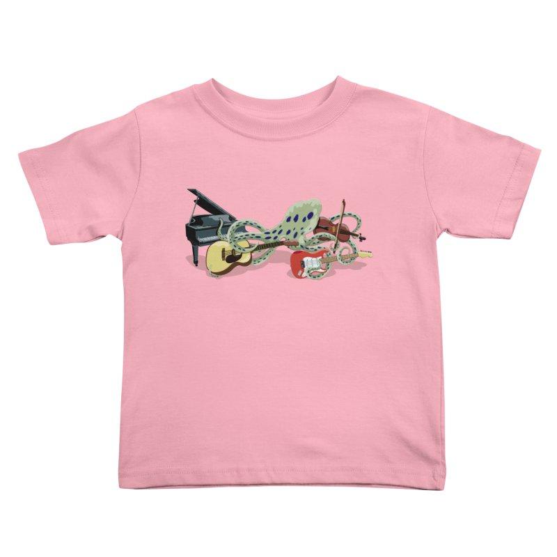 ROCKtopus Kids Toddler T-Shirt by BullShirtCo