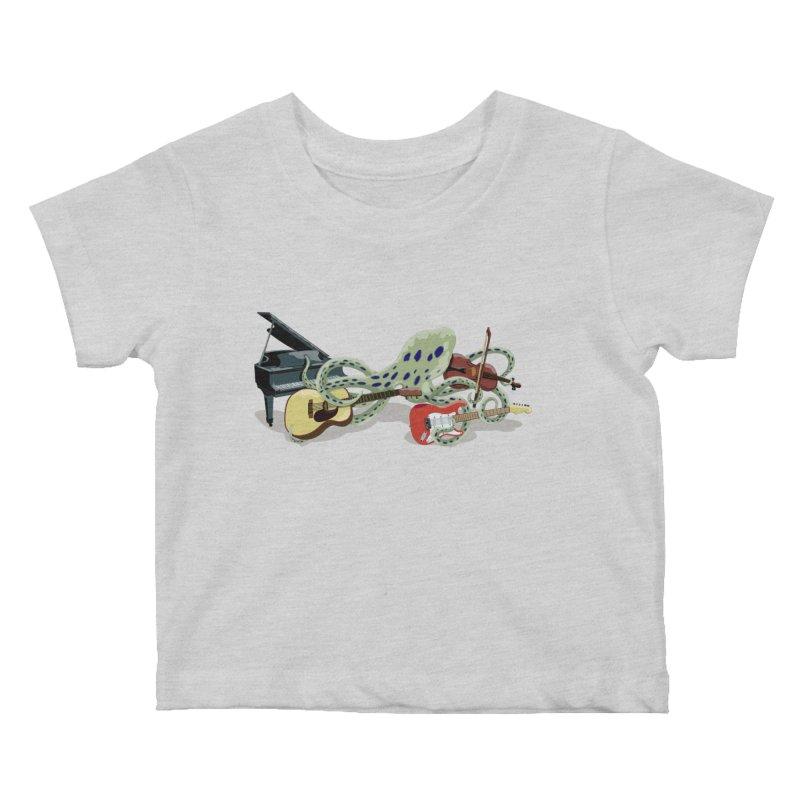 ROCKtopus Kids Baby T-Shirt by BullShirtCo