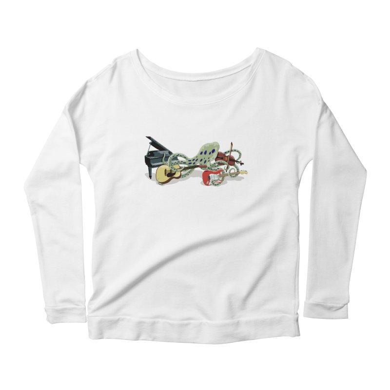 ROCKtopus Women's Scoop Neck Longsleeve T-Shirt by BullShirtCo