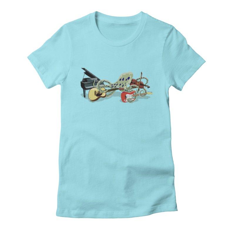 ROCKtopus Women's Fitted T-Shirt by BullShirtCo