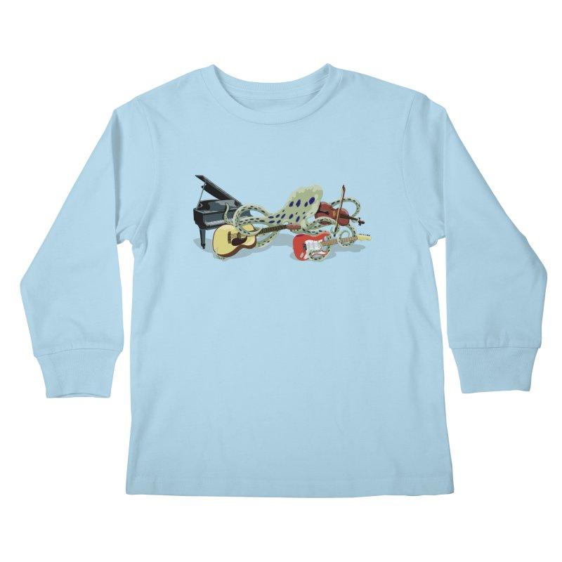 ROCKtopus Kids Longsleeve T-Shirt by BullShirtCo