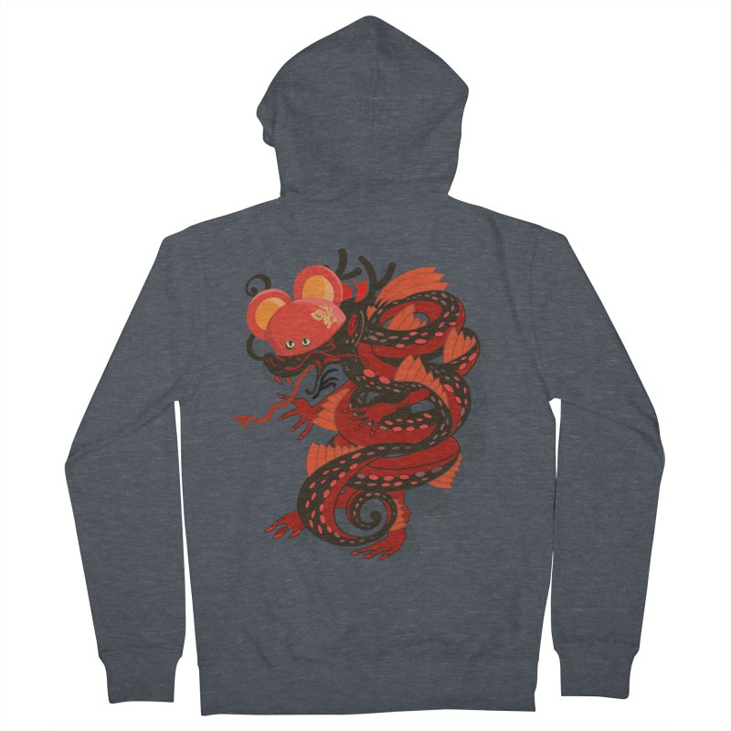 Team Player Chinese New Year Men's French Terry Zip-Up Hoody by BullShirtCo