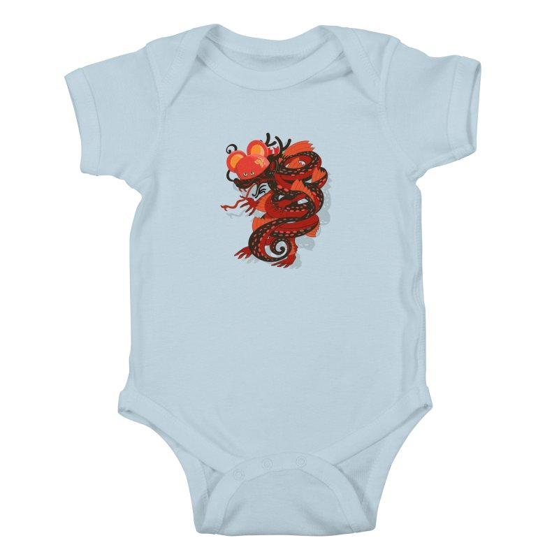 Team Player Chinese New Year Kids Baby Bodysuit by BullShirtCo
