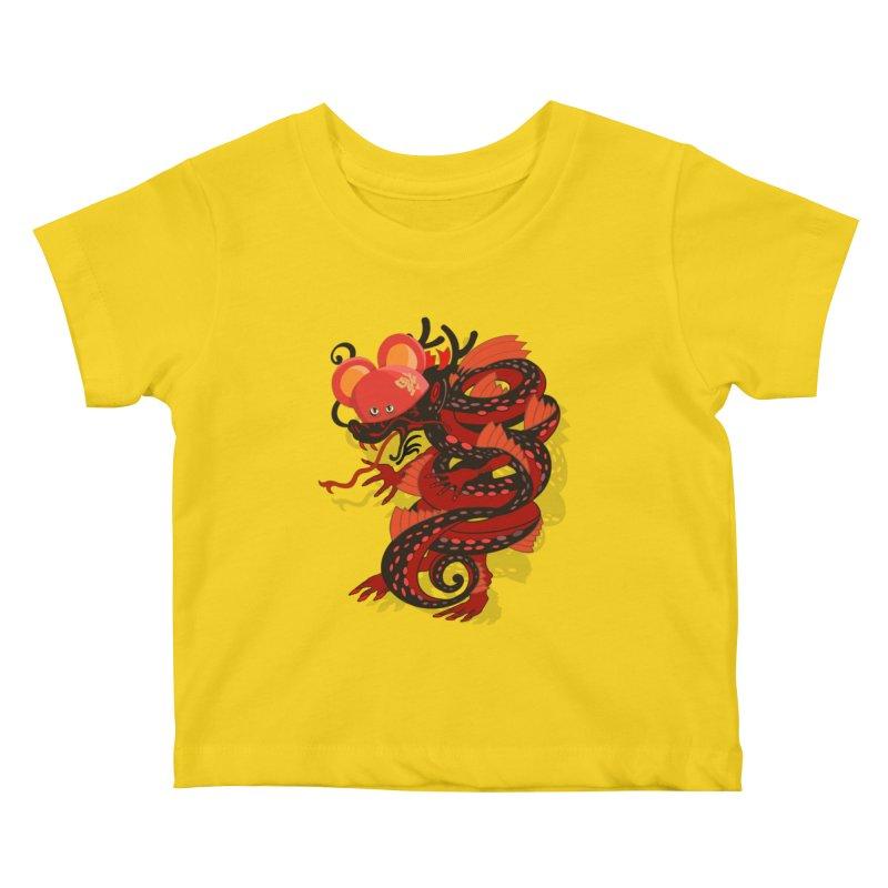 Team Player Chinese New Year Kids Baby T-Shirt by BullShirtCo