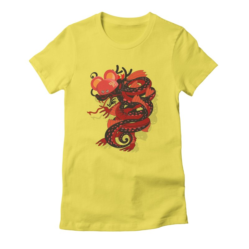 Team Player Chinese New Year Women's Fitted T-Shirt by BullShirtCo