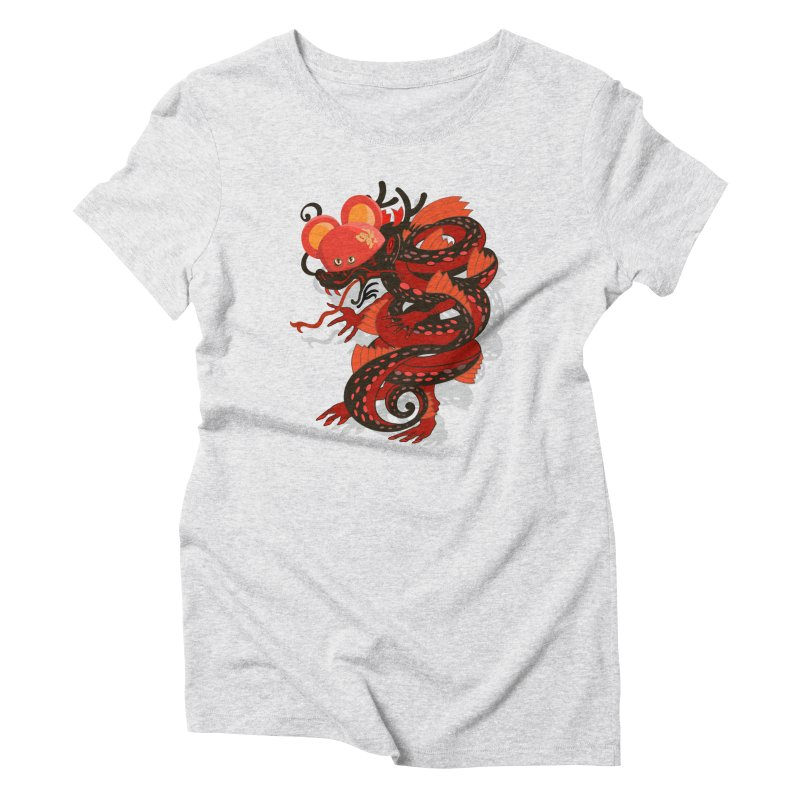 Team Player Chinese New Year Women's Triblend T-Shirt by BullShirtCo