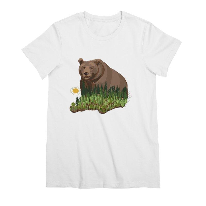 Woods in a Bear Women's Premium T-Shirt by BullShirtCo
