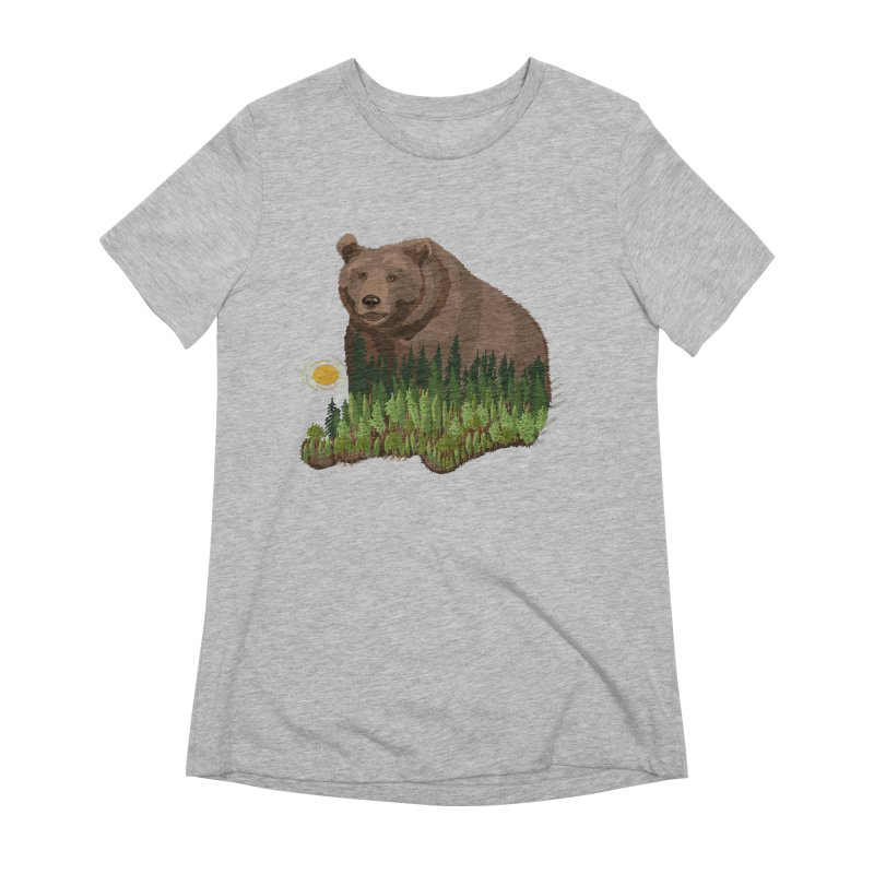 Woods in a Bear Women's Extra Soft T-Shirt by BullShirtCo