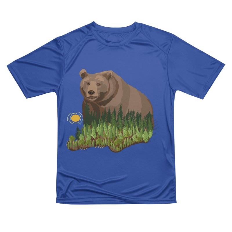 Woods in a Bear Men's Performance T-Shirt by BullShirtCo