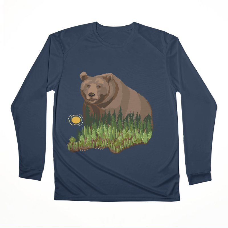Woods in a Bear Men's Performance Longsleeve T-Shirt by BullShirtCo