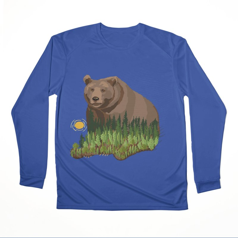 Woods in a Bear Women's Performance Unisex Longsleeve T-Shirt by BullShirtCo