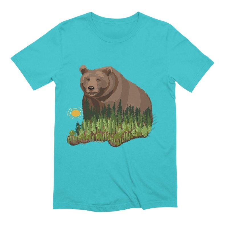 Woods in a Bear Men's Extra Soft T-Shirt by BullShirtCo