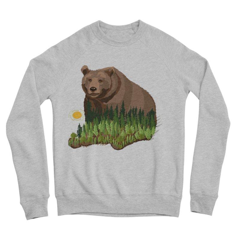 Woods in a Bear Men's Sponge Fleece Sweatshirt by BullShirtCo