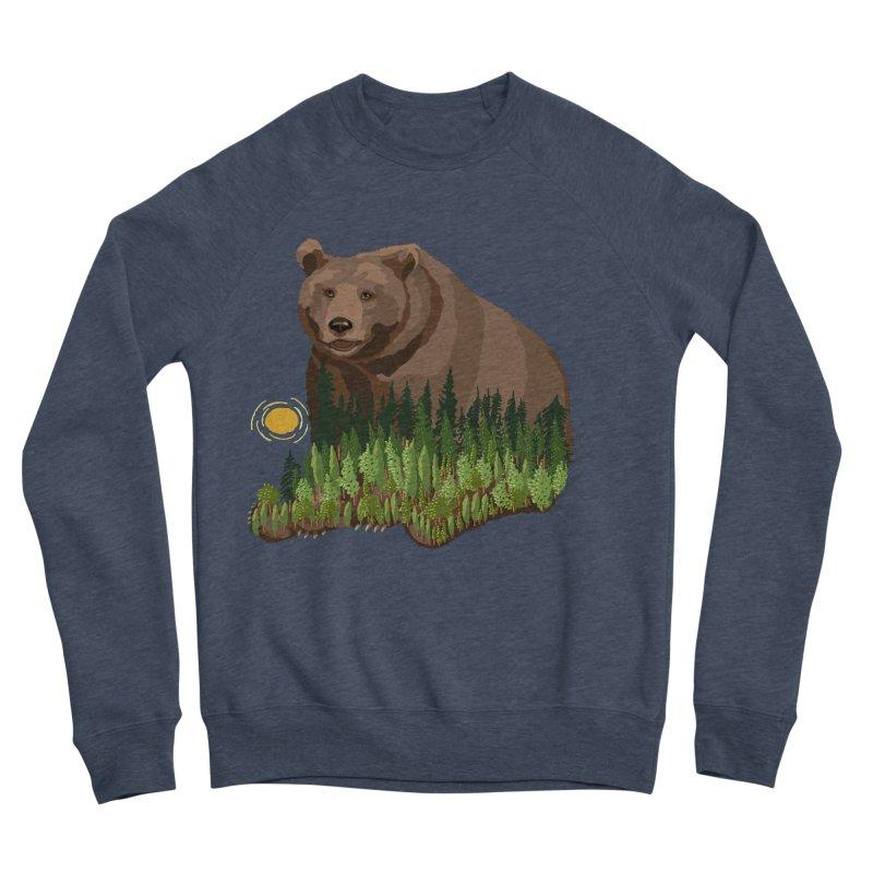 Woods in a Bear Women's Sponge Fleece Sweatshirt by BullShirtCo