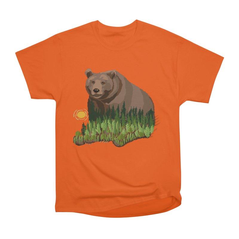 Woods in a Bear Men's Heavyweight T-Shirt by BullShirtCo