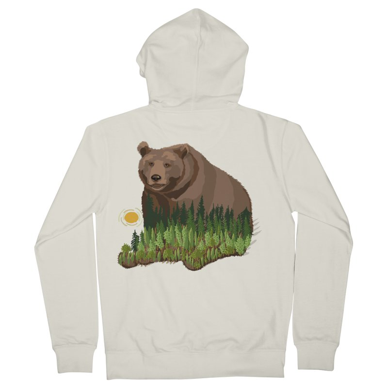 Woods in a Bear Women's French Terry Zip-Up Hoody by BullShirtCo
