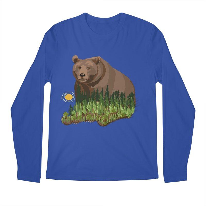 Woods in a Bear Men's Regular Longsleeve T-Shirt by BullShirtCo