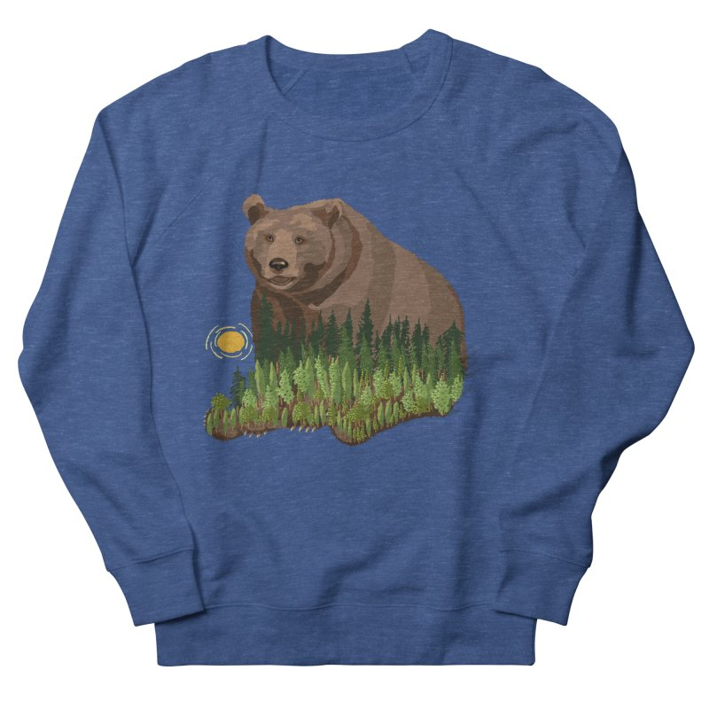 Woods in a Bear Men's French Terry Sweatshirt by BullShirtCo