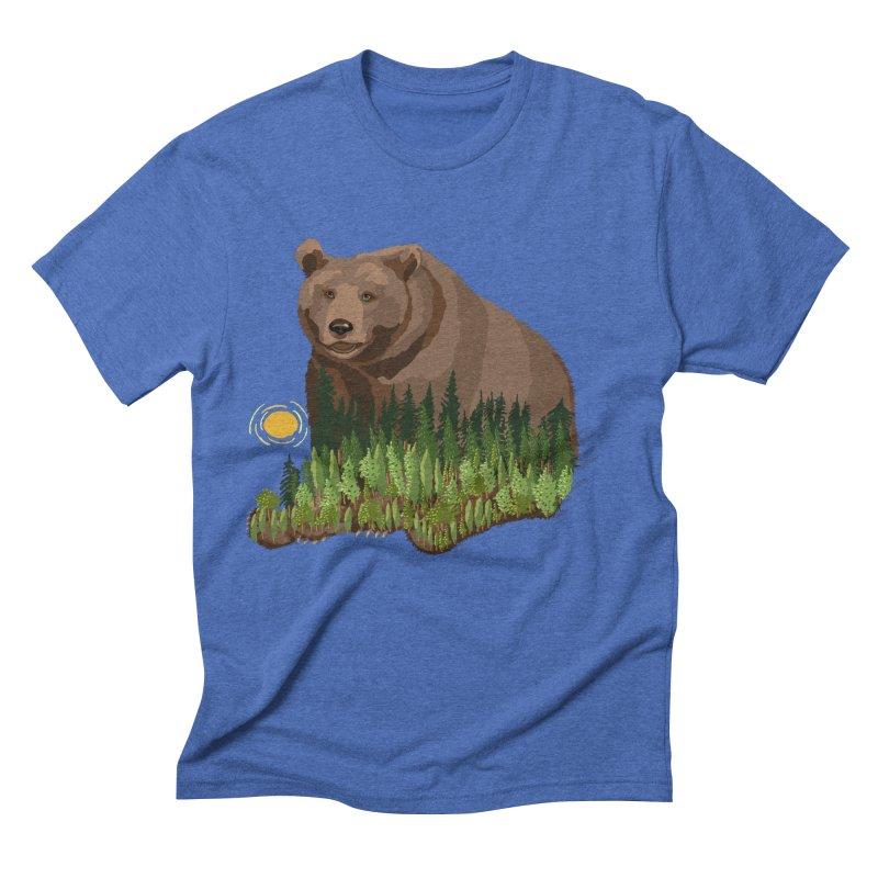 Woods in a Bear Men's Triblend T-Shirt by BullShirtCo