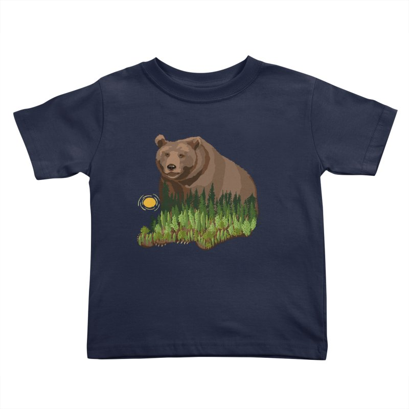 Woods in a Bear Kids Toddler T-Shirt by BullShirtCo