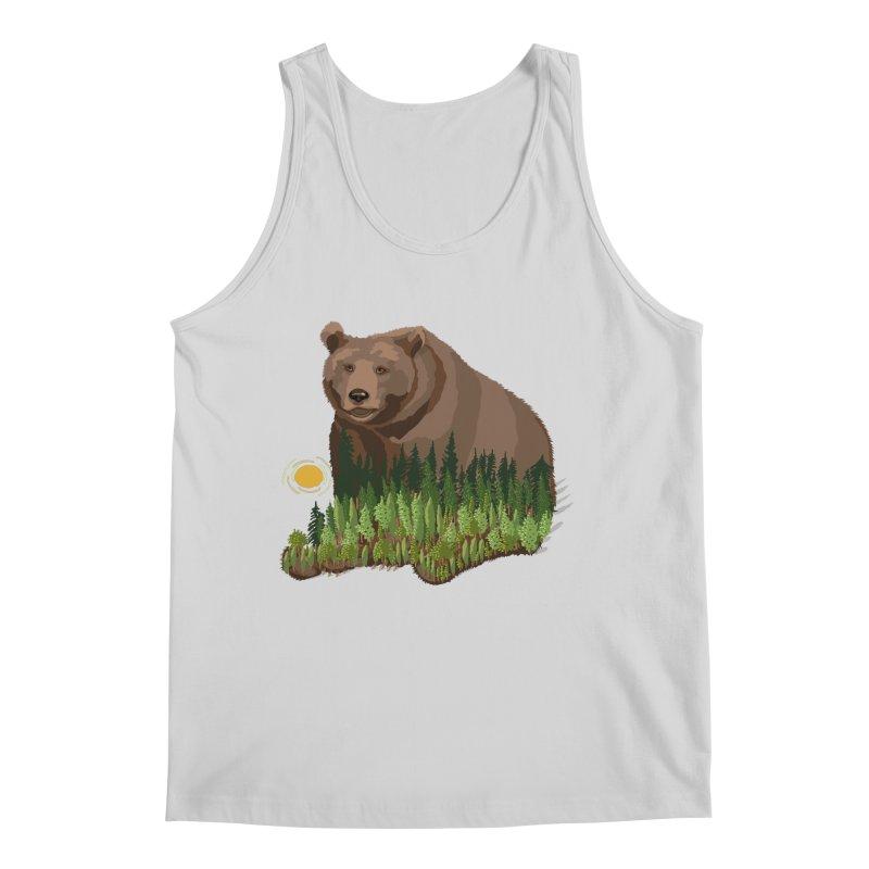 Woods in a Bear Men's Regular Tank by BullShirtCo