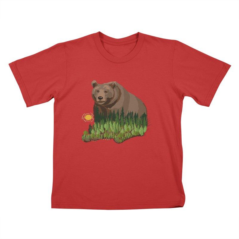 Woods in a Bear Kids T-Shirt by BullShirtCo