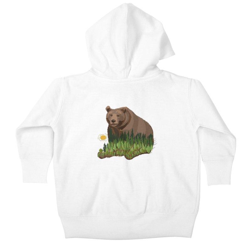 Woods in a Bear Kids Baby Zip-Up Hoody by BullShirtCo