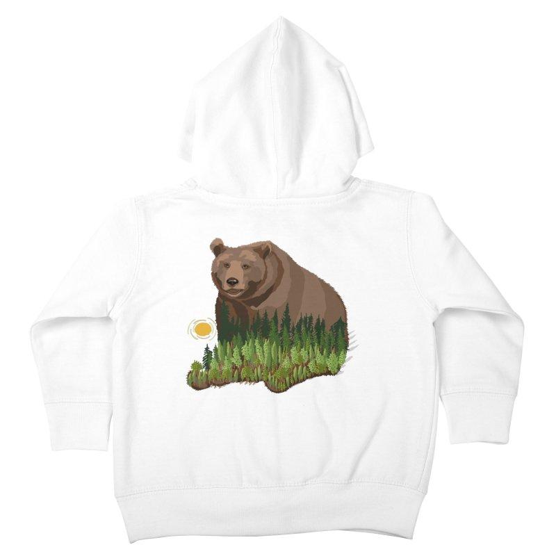 Woods in a Bear Kids Toddler Zip-Up Hoody by BullShirtCo